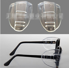 2PCS Clear Universal Flexible Side Shields Safety Glasses Goggles Eye Protection
