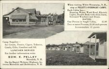 Meredith NH Pelley's Overnight Camps c1920s Advertising Postcard