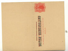 British  Bechuanaland  postal  reply  card   unused       MS1113