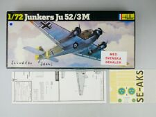 Heller 1/72 Junkers Ju 52/3M + Schweden Decal No 380 plane model kit OVP 109719