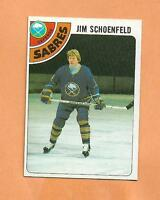 JIM SCHOENFELD  TOPPS 1978-79 CARD # 178 SABRES