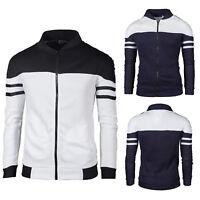 Mens Casual Jacket Baseball Coat Slim Outwear Overcoat Zip Up Hoodies Sweatshirt