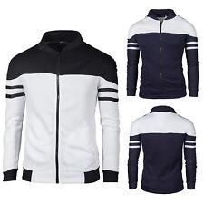 Men Slim Fit Hoodie Zipper Sweatshirt Jacket Coat Hooded Gym Sweater Sports Tops