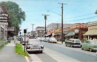 CT Clinton MAIN ST 1955 Nash Rambler Station Wagon 5-10-25 Rexall postcard A90