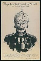 metamorphic Kaiser WWI ww1 war propaganda humor caricature old c1915 postcard