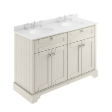 Old London Timeless Sand 1200mm Cabinet & Double Marble Top (3TH) - Code: LOF467