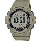 Casio-AE1500WH5AV-Chronograph-Watch-Khaki-Resin-Band-Alarm-Illuminator
