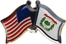 Pack of 50 USA American West Virginia Friendship Flag Bike Hat Cap lapel Pin