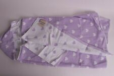 New Pottery Barn Kids Heart Hooded towel bath wrap, heart lavender purple