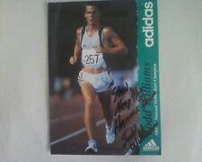 Adidas 1992 US National 10,000 Meter Champion Todd Williams autograph Vols track