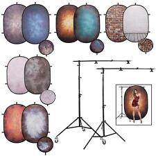 Popup Backdrop 2x1.5m Collapsible Screen Cotton Pop Up Studio Retro Photography