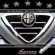 Alfa Romeo 166 Typ 936 Chrom Zierleisten für Kühlergrill Scudetto 3M