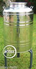 Sansone fusto aggraffato 50 litri lt inox 18/10 contenitore olio bidone - Rotex