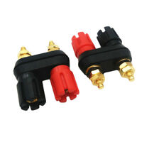 Dual Female Banana Plug Jack Terminal Binding-Post for Speaker Amplifier Hot