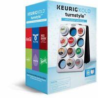 Keurig Kold Turnstyle Rotating Kold Pod Storage Holds 24 Pods Silver