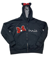 New listing Disney Store Women's Size Xl Xlarge Minnie Mouse Bow Hoodie Black Ears on Hood
