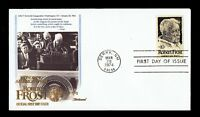 US 1526 Robert Frost American Poet 1974 Fleetwood First Day Cover FDC F1526-2