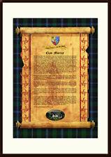 CLAN MURRAY - Clan History, Tartan, Crest, Castle & Motto MOUNTED PRESENTATION