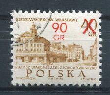 POLOGNE 1972, timbre 2042, ARCHITECTURE, VARSOVIE au XIII SIECLE, oblitéré