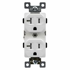 Enerlites 20A Commercial Grade TR Duplex Receptacle / Outlet White 10 Pack
