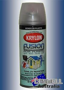 Krylon Fusion Plastic Paint 340gm - Clear Gloss UV Protection - AUS Seller