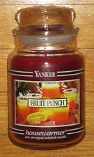 Yankee Candle - FRUIT PUNCH - 22 oz - Black Band - VERY RARE & HARD TO FIND!!