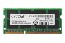 Crucial 4GB 2RX8 PC3-10600S DDR3-1333MHz 204pin CL9 Laptop Memory RAM SODIMM @5H