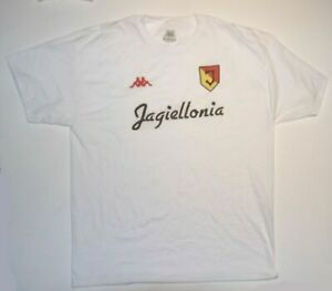 Jagiellonia BIALYSTOK, soccer t shirt, new/tag, COLOR WHITE WITH LOGOS