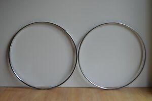 Vintage 1980's Raleigh Chromed Steel Wheel Rims 700c (622 x 28) 36 Holes - Pair