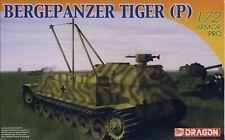 Dragon 1/72 Scale Model Kit #7227 BERGEPANZER TIGER (P) MIB