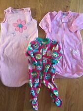 Baby Girls Pink Fleece Sleep Sacks 0 To 9 Months Carter's TCP Blanket Sleeper