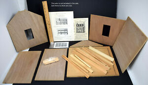 New Old Stock Unbuilt Walmer #140 Wood Dollhouse 1-Story Gable Wing Addition Kit