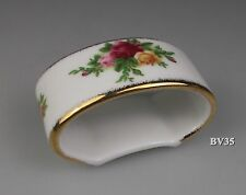 """ROYAL ALBERT OLD COUNTRY ROSES NAPKIN RING  2 1/4"""" - RINGS - MADE IN ENGLAND"""