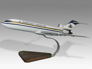 Boeing 727-200 American Air Trans Solid Mahogany Wood Handcrafted Display Model