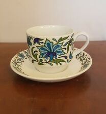 Vintage Midwinter Spanish Garden Tea Cup And Saucer    (cb1)