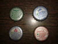 Sprite Coca Cola Thumps Up & Maaza Bottle Caps Set Of 4 Crowns Free Shipping