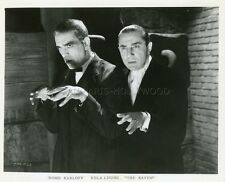 BORIS KARLOFF  BELA LUGOSI  THE RAVEN   1935 VINTAGE PHOTO RE-RELEASE 60s
