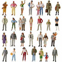 30pcs Different 1:43 Model Figures O Scale Standing Painted People Train Layout