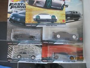 HOTWHEELS  FAST & FURIOUS EURO FAST FULL SET OF 5 ALLOYS  RUBBER TYRES ,.,``,.,
