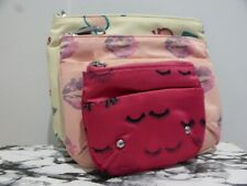 Juicy Couture set of 3 make up cosmetics toiletry bags VGC