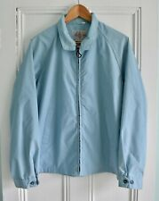 "Vtg 60s 70s MISTER ""365"" Blue Poly Cotton Golf Harrington Windbreaker Jacket 42"