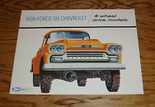 1958 Chevrolet 4-Wheel Drive Truck Sales Brochure 58 Chevy