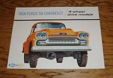 1958 Chevrolet 4-Wheel Drive Truck Sales Brochure 58 Chevy