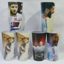 OLYMPIQUE LYONNAIS football Lyon 6 verres plastiques décorés Unis pour rugir