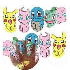 Nail Art Water Decals Stickers Full Wraps Pikachu Mew Pokemon Gel Polish (392)