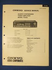 ONKYO TX-822 TUNER AMP SERVICE MANUAL ORIGINAL FACTORY ISSUE THE REAL THING