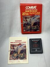 Combat (Atari 2600, 1978) Original Box and Instructions Tested And Works!