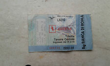 LAZIO JUVE biglietto 1993-94 vintage partita campionato olimpico c5