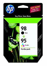 HP Genuine 98 Black + 95 Color Set of 2 Ink Cartridge OEM Packaging Exp. 2018