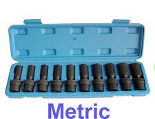 "10Pc 3/8"" Drive Universal Swivel Deep Impact Socket Set CR Molybdenum METRIC"